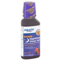 Equate Alcohol Free Berry Flavor Nighttime Sleep Aid, 12 fl oz