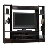 "Sauder Beginnings Entertainment Wall System for TVs up to 42"", Cinnamon Cherry Finish"