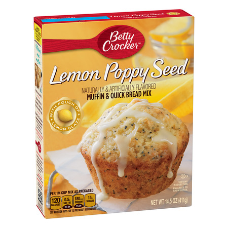 (12 Pack) Betty Crocker Lemon Poppy Seed Muffin and Quick Bread Mix, 14.5 (Lemon Pudding Bread)
