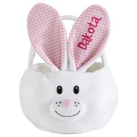 Personalized Hoppy Dots Bunny Easter Basket - Blue