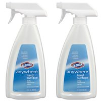 (2 Pack) Clorox Anywhere Hard Surface Daily Sanitizing Spray, 22 oz