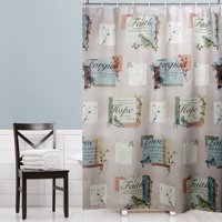 "Mainstays Hopeful Fabric Shower Curtain 70"" x 72"""