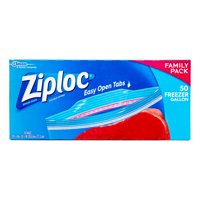 Ziploc Pinch & Seal Freezer Bags, Gallon, 50 Count