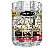 MuscleTech Pro Series Myobuild 4x Amino-BCAA Powder, Fruit Punch Blast, 36 Servings