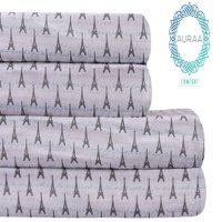 Auraa Comfort 100% Cotton Flannel King Sheet Set