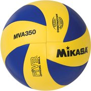 Mikasa MVA350 Olympic Replica Varsity Outdoor Volleyball, Blue/Yellow