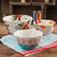 The Pioneer Woman Flea Market 3-Piece Scalloped Serving Bowl Set
