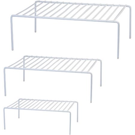 Mainstays 3-Piece Wire Shelves, White