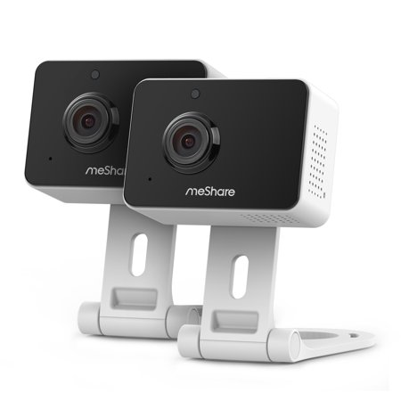 meShare 1080p Mini Wireless Two-way Audio Camera 2-Pack with Free 6-Month Cloud Service Plan and Cloud AI Security-Works with Google Assistant](Halloween 6 1080p)