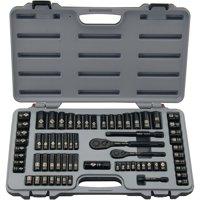 STANLEY 92-824 69-Piece Socket Mechanics Tool Set, Black Chrome