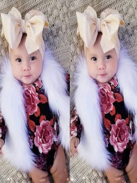 Fashion Baby Baby Girl Faux Fur Winter Waistcoat Warm Vest Toddler Outerwear Coat