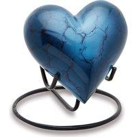 Urns Direct 2U Mystic Blue Keepsake Heart, Set of 2