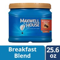 Maxwell House Breakfast Blend Ground Coffee, 25.6 oz Canister