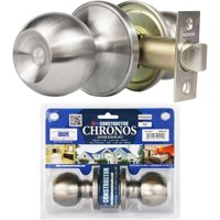 Constructor Chronos Passage Door Knob Handle Lock Set for Hallway and Closet Stainless Steel Finish