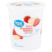 Great Value Original Strawberry Banana Lowfat Yogurt, 32 oz