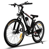 "Holiday Special !!! ANCHEER The Newest 25""21 Speed 36V Electric Mountain Bicycle for Adults with Removable Lithium-ion Battery Integrated Mens Electric Bike, With LED Handlebar Display, LED Headlight"
