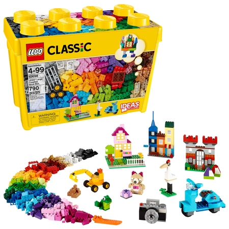 LEGO Classic Large Creative Brick Box 10698 Building Toy (790 (Lego Brick Box)