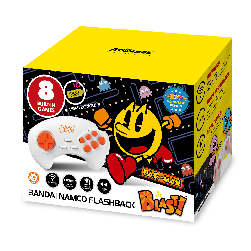 Bandai Namco Flashback Blast!, Pac-Man, PAC-MANIA, Retro Gaming, Yellow, 818858029629