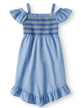 Smocked Chambray Dress (Little Girls, Big Girls & Big Girls Plus)