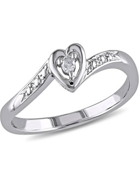 Diamond Accent Sterling Silver Heart-Shaped Promise Ring