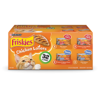 Friskies Chicken Lovers Shreds & Filets Adult Wet Cat Food Variety Pack - (32) 5.5 oz. Cans