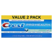 Crest Pro-Health Clean Mint Toothpaste, 4.6 oz TWIN