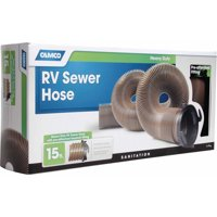 Camco 39691 Heavy Duty RV Sewer Hose with Pre-Attached Fitting, 15'