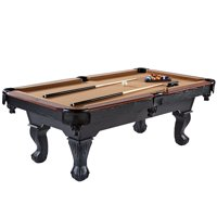 Barrington Belmont 90 inch Billiard Table with complete set of billiard balls, 2 cue sticks, 1 wooden triangle, 2 chalks and 1 brush, Brown