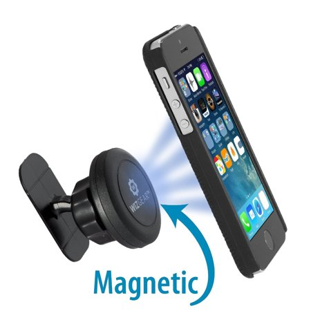 WizGear Universal Stick On Dashboard Magnetic Car Mount Holder, for Cell Phones and Mini Tablets with Fast Swift-snap