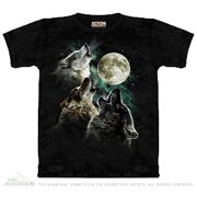 4a99ce5fa Green 100% Cotton Three Wolf Moon Novelty T-Shirt