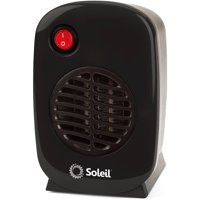 Soleil Personal Electric Ceramic Heater, 250 Watt MH-01, Black