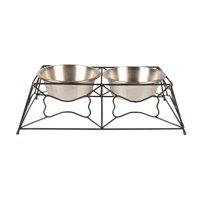 Vibrant Life Iron Bone Diner with Steel Bowls, Large, 54 fl oz