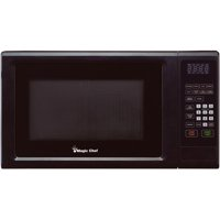 Magic Chef 1.1 Cu. Ft. 1000W Countertop Microwave Oven with Push-Button Door in Black