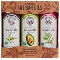 La Tourangelle, Roasted Walnut Oil, Delicate Avocado Oil, Toasted Sesame Oil Favorites Trio of Oils, 3 x 8.45 oz (3 x 250 ml)