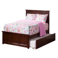 Madison Platform Bed with Matching Foot Board with Twin Size Urban Trundle Bed in Multiple Colors and Sizes
