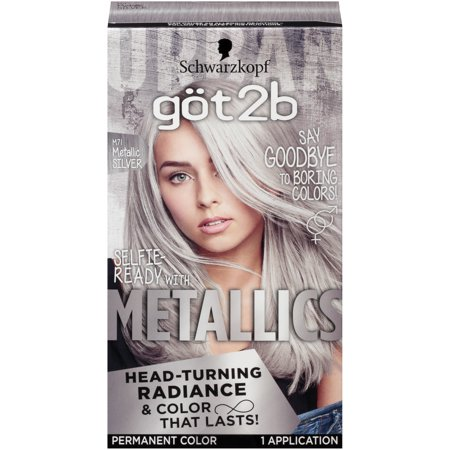 - Got2b Metallic Permanent Hair Color, M71 Metallic Silver