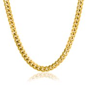 7f627e52dc4 Mens Strong 8MM Gold Tone Stainless Steel Miami Curb Cuban Chain Necklace  For Men For Teen