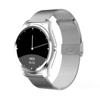 DI03 Bluetooth Siri Smart watch MTK2502C 128MB+64MB 1.15cm Ultra-thin IP67 Heart Rate Monitor Pedometer Sedentary Remind Sleep Monitor Notifications Pushing for Android IOS (Silver)