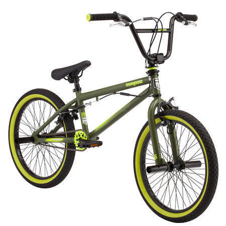 Mongoose Rad Attack kids BMX bike, 20-inch wheel, Boys, Green