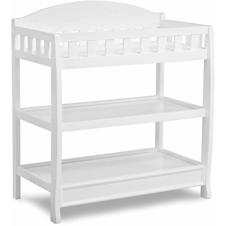 Delta Children Wilmington Changing Table with Pad, White (Baby Furniture Changing Table)