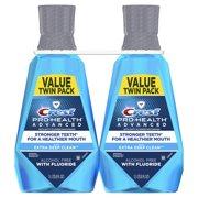 Crest Pro-Health Advanced, Extra Deep Clean Mouthwash, Fresh Mint, 1 L, Pack of 2