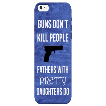 iCandy Products Guns Don't Kill People Funny Phone Case for the Iphone 6