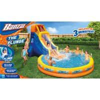 Banzai The Plunge (Backyard Inflatable Waterslide with Giant Oversized Pool)