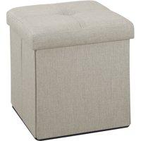 Simplify Faux Linen Folding Storage Ottoman