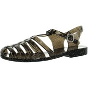4cc849f37fb9 Forever Womens Jedi Summer T-Strap Retro Jelly Rain Flat Sandals