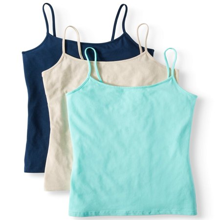 Women's Cami Tank Top, 3 Pack Bundle 3 Pack Cotton V-neck Tee