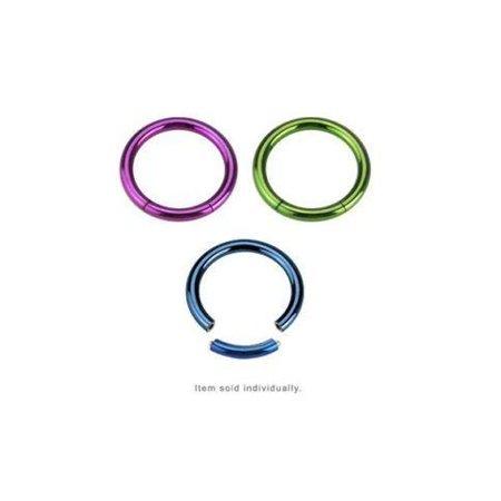 Segment Ring 14g 16g Captive Bead Ring Anodized Titanium Nose Ear Lip Nipple