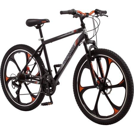 Mongoose 26 Men S Mack Mag Wheel Mountain Bike Black And Orange