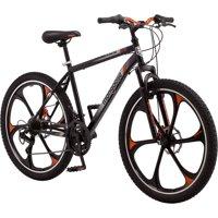 """Mongoose 26"""" Men's Mack Mag Wheel Mountain Bike, Black and Orange"""