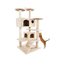 "Ktaxon 52"" Cat Tree Tower Condo Furniture Scratch Post Kitty Tower Furniture Pet Play House Bed"